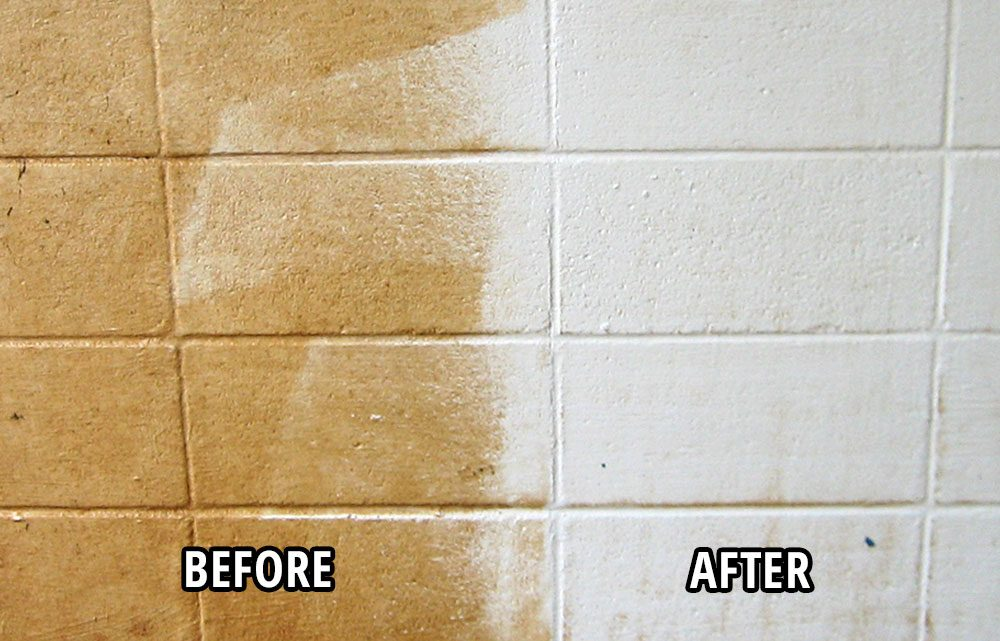 Nu-Wall Wall Cleaner Before and After